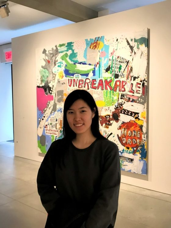 Hannah at the Basquiat exhibit in April!